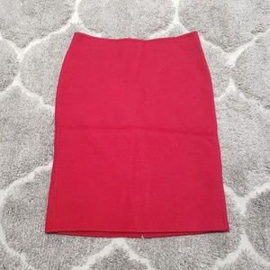 Talbots Red Wool Blend Pencil Skirt Size 6